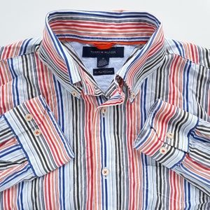 Tommy Hilfiger Vibrant Color Mens Shirt Size M
